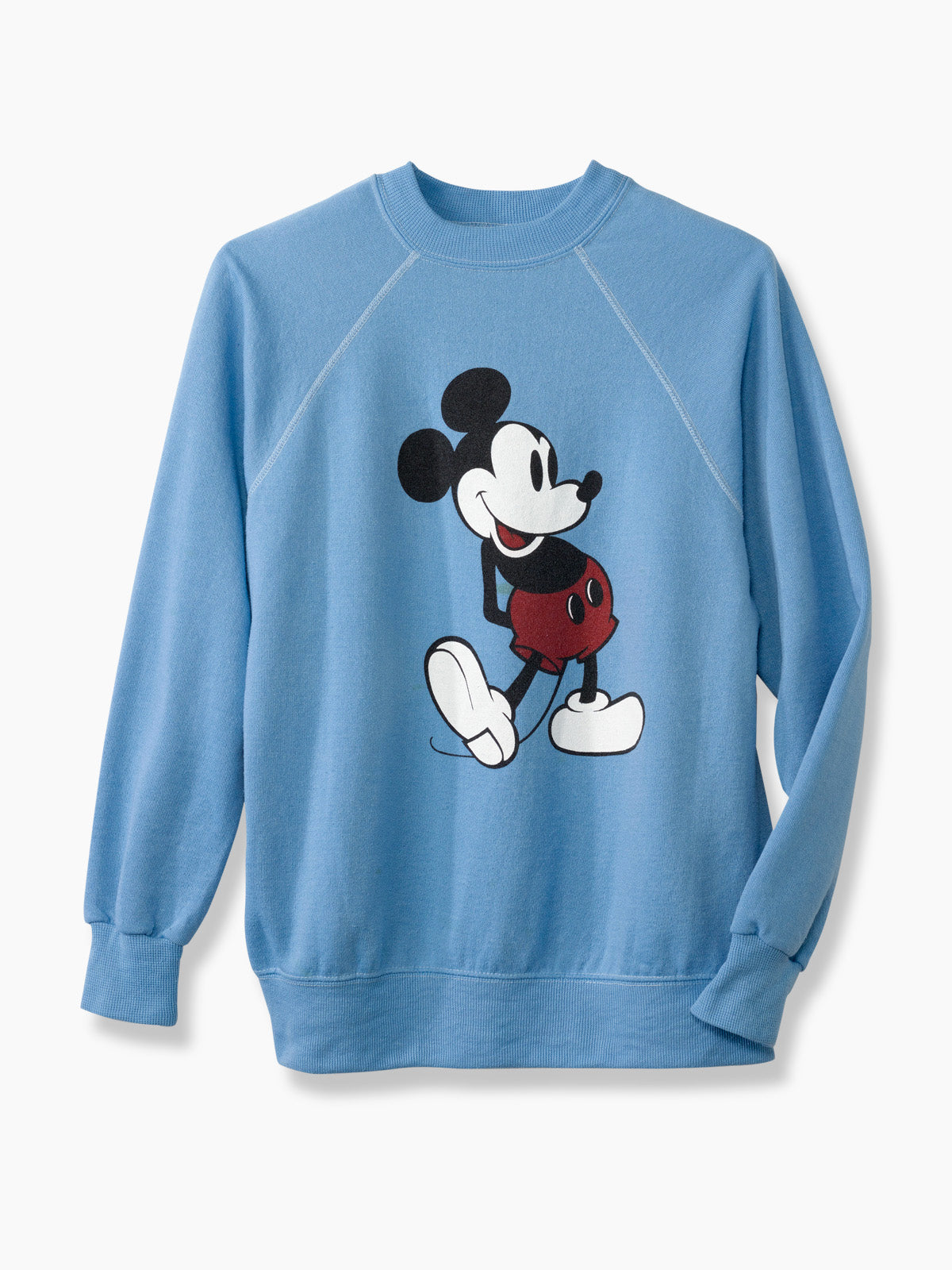 6e719289f Blue Mickey Mouse Logo Printed Vintage Sweater - Ellie Mae Studios