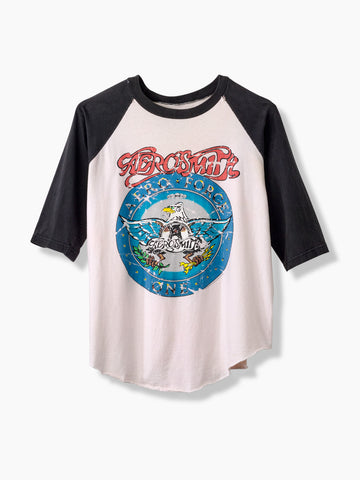 1987 Vintage Aerosmith Band Baseball T-Shirt