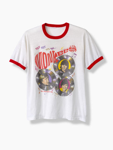 1986 Vintage Monkees 20Th Anniversary World Tour T-Shirt