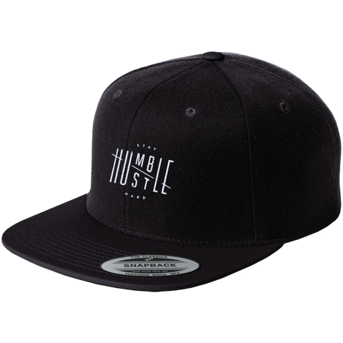 Stay Humble Hustle Hard Flat Bill High-Profile Snapback Hat