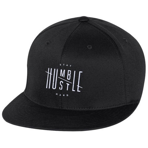 Stay Humble Hustle Hard  Flat Bill Twill Flexfit Cap