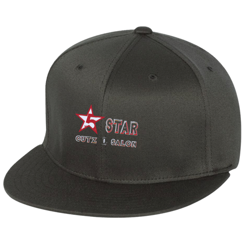 5 Star Flat Bill Twill Flexfit Cap