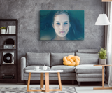 TIFF BLUE EYES | RECTANGLE CANVAS