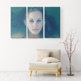 TIFF BLUE EYES | 3 PIECE CANVAS