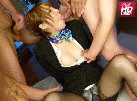 4 Cocks vs Flight Attendant - Hikaru Shiina 椎名ひかる (1080P HD)