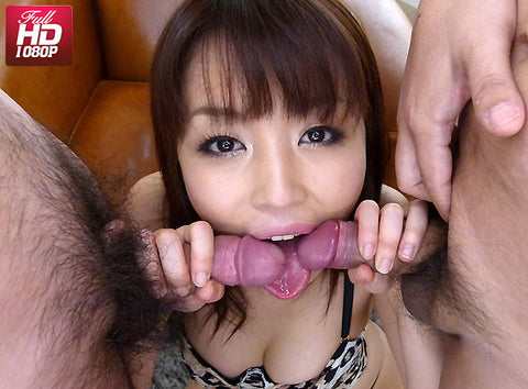 Slutty Idol Takes 2 Cocks Sucking Deep Thorat & Cum Swallow -  Marika まりか (1080P HD)