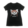 Red Panda Typography Ladies T-shirt