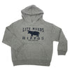Life Needs Rhinos Youth Sweatshirt