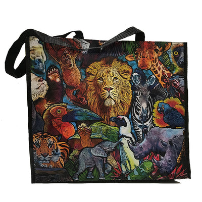 Animal Collage Shopping Tote
