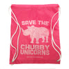 Save the Chubby Unicorns Cinch Sack