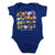 Safari Alphabet Infant Onesie-Royal Blue
