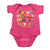 Safari Alphabet Infant Onesie-Deep Pink