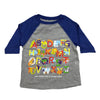 Safari Alphabet Toddler Baseball Tee