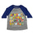 Safari Alphabet Toddler Baseball Tee-Blue
