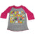 Safari Alphabet Toddler Baseball Tee-Deep Pink