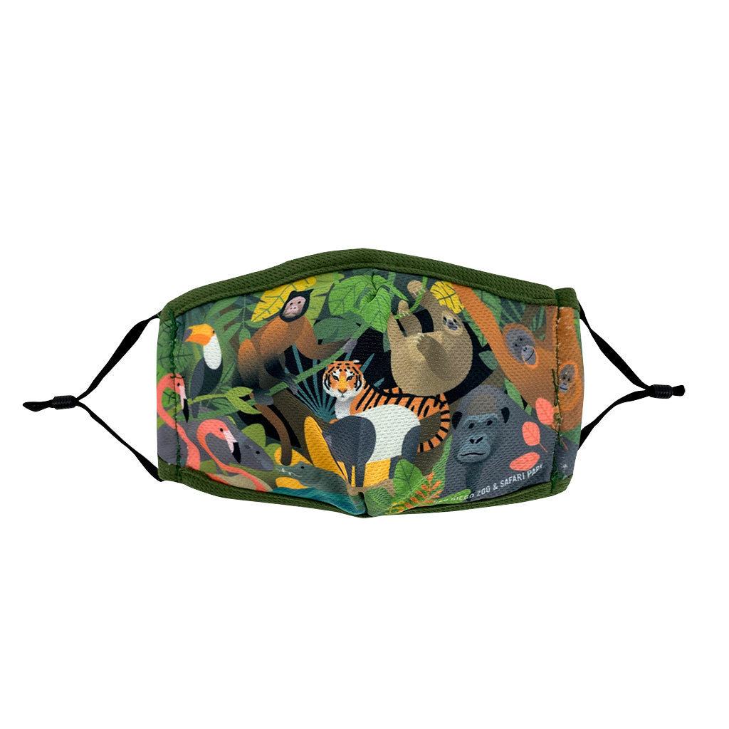 Jungle Collage Face Mask