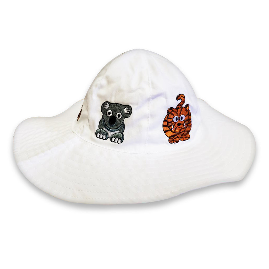 Embroidered Floppy Animal Hat