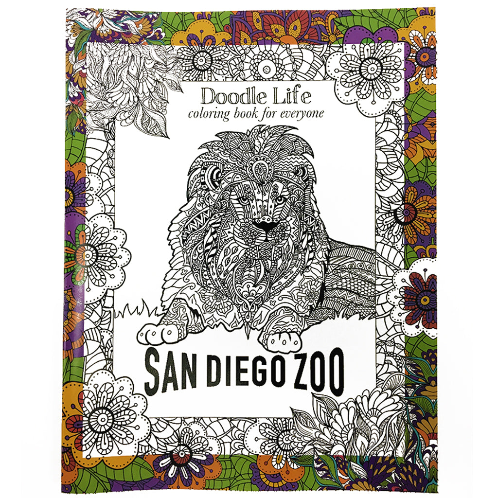 San Diego Zoo Doodle Life Coloring Book - Shop San Diego Zoo