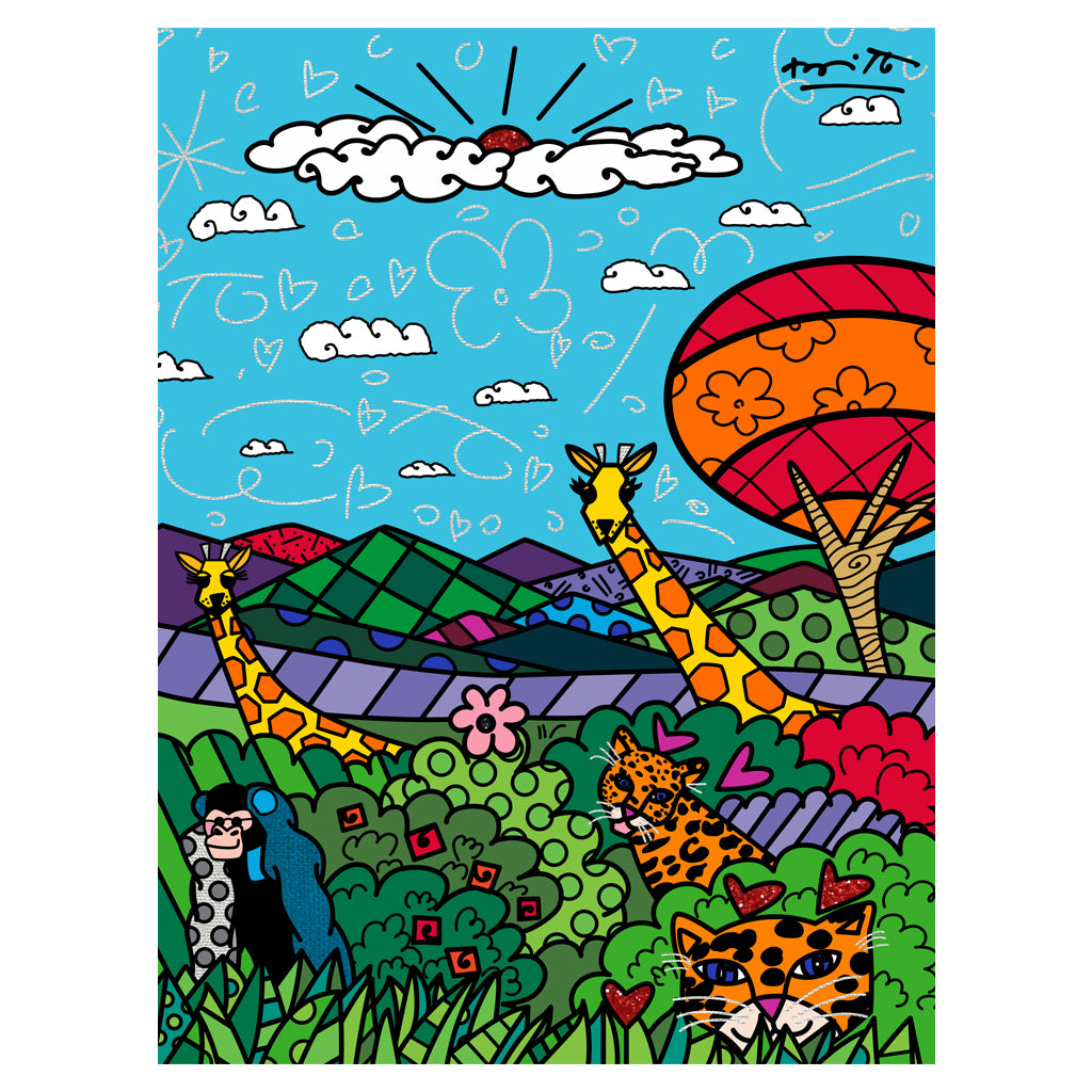 Wild Life II by BRITTO - Signed Limited Edition Canvas Print - Unframed