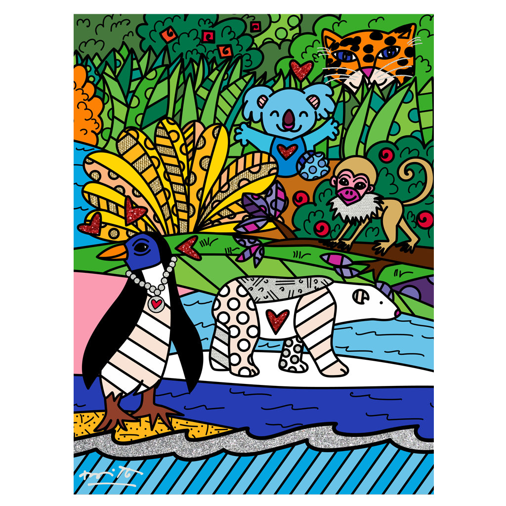 Wild Life IV by BRITTO - Signed Limited Edition Canvas Print - Unframed