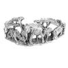 Sterling Silver Animal Kingdom Cuff Bracelet
