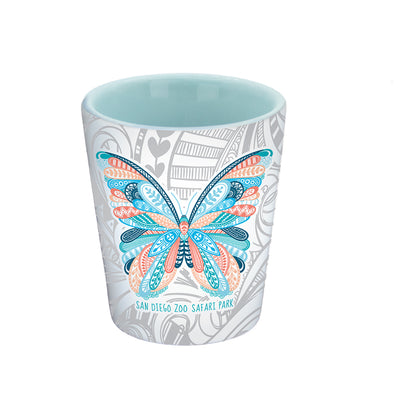 Butterfly Henna Print Shot Glass