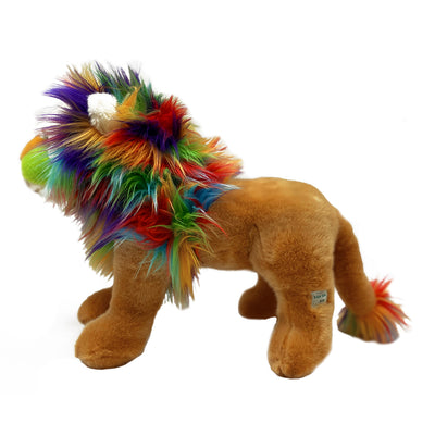 "Colorful Lion 15"" Standing Plush"