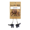 Beaded Kenyan Elephant Earrings