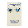 Earrings: Blue Morpho Butterfly, Post