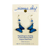 Earrings: Blue Morpho Butterfly, Dangle