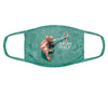 Jungle Bells Chameleon Face Mask