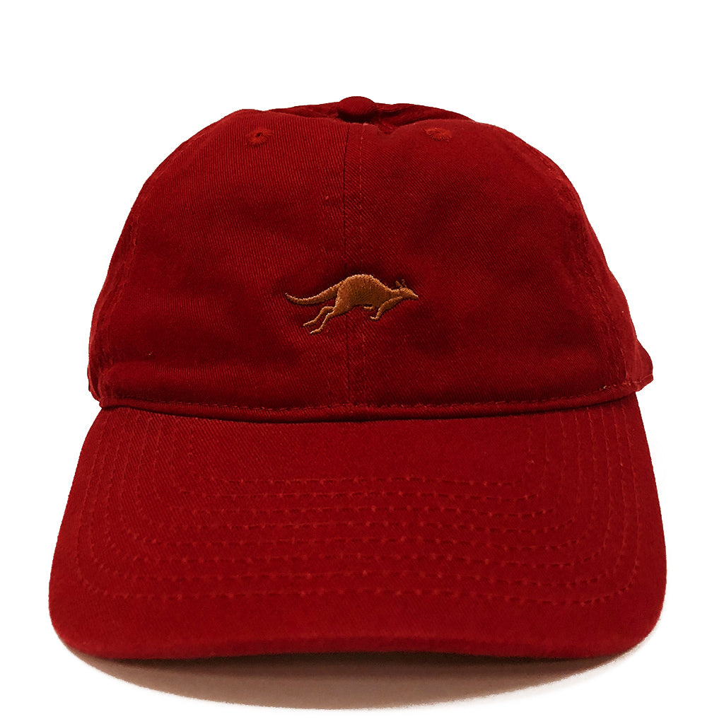 Kangaroo Adult Baseball Cap-Cardinal Red