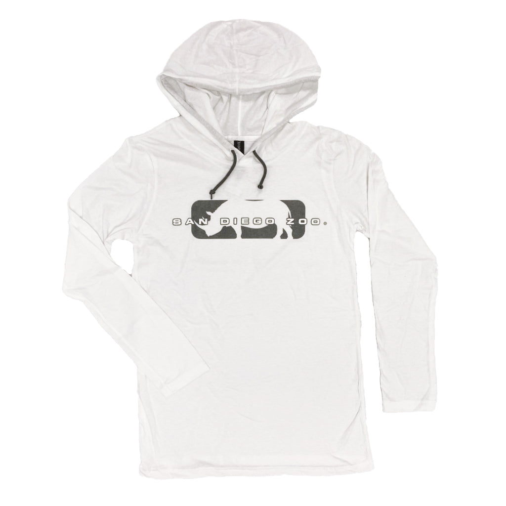 San Diego Zoo Puff Men's Hooded Rhino Tee