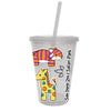 Kids Zoo Sipper Cup With Straw