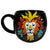 Colorful Lion Head Embossed Mug