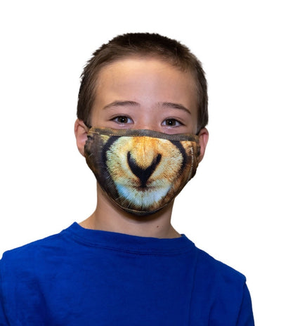 CHEETAH KIDS FACE MASK