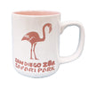 Etched Flamingo Mug