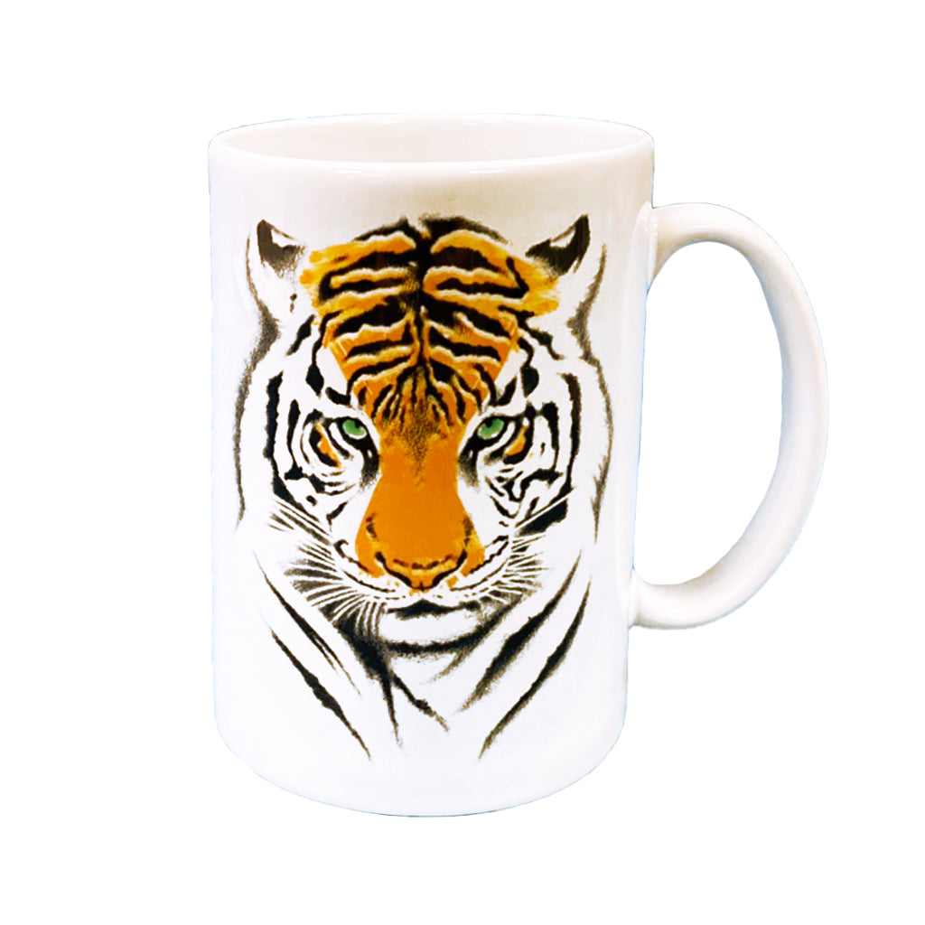 Tiger Green Eyes Mug
