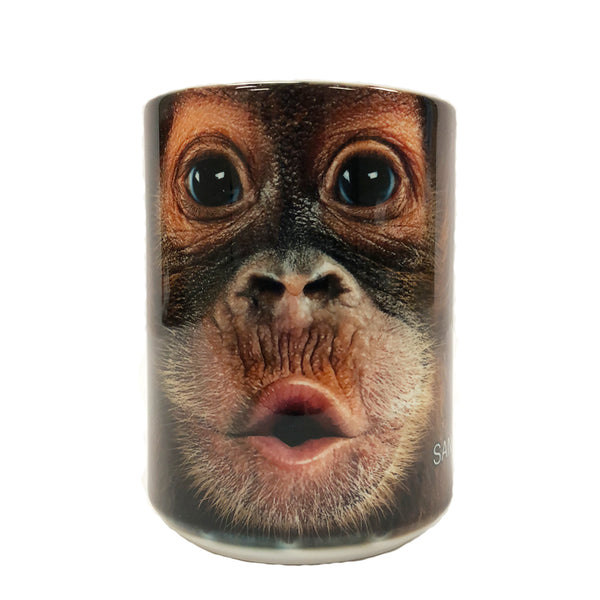 Big Face Orangutan Mug