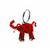 Beaded Kenyan Elephant Keyring