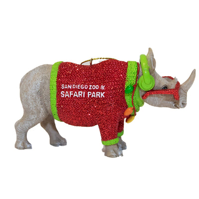 Chubby Rhino Ornament - Reserve yours now for early November Delivery