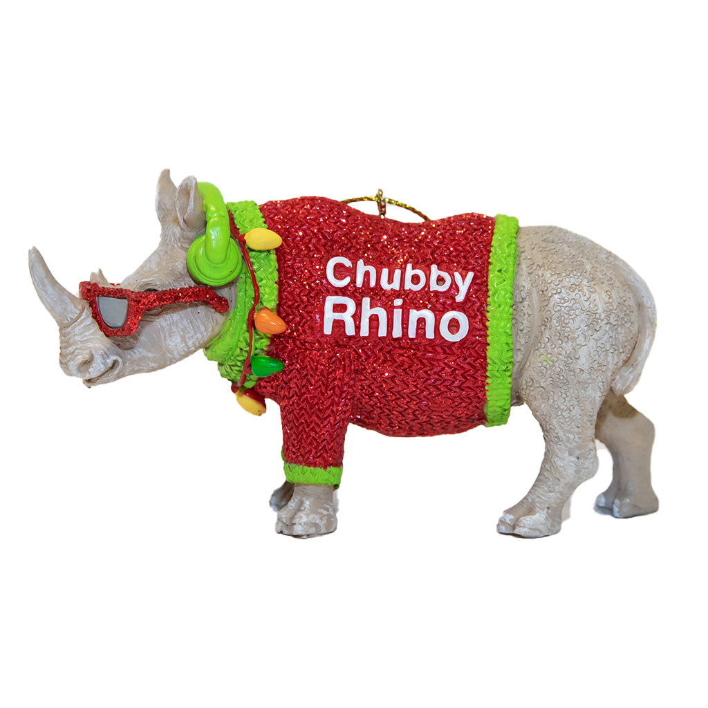 Chubby Rhino Ornament
