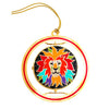 Colorful Lion Head Spin Ornament