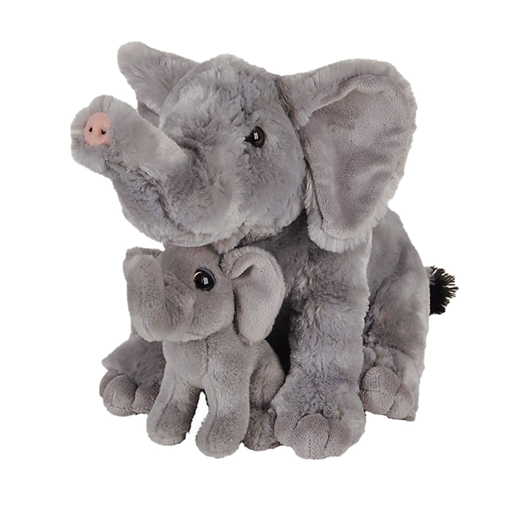 Elephant Mom & Baby Plush