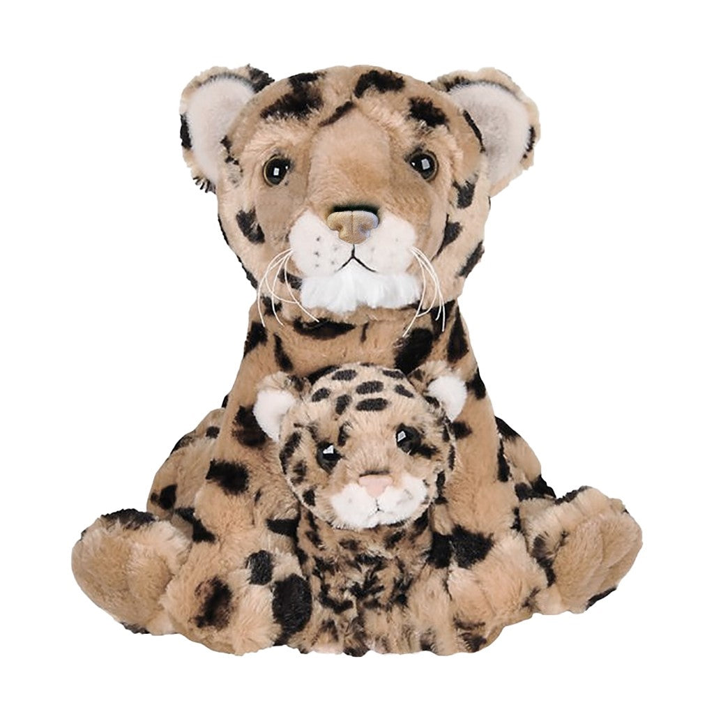 Leopard Mom & Baby Plush