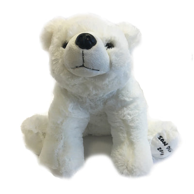 Plush Polar with San Diego Zoo on paw