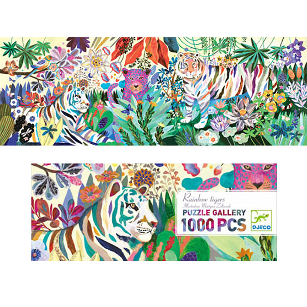 Rainbow Tigers 1000pc Puzzle