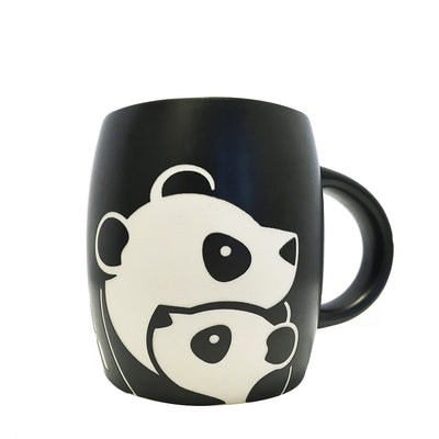 Panda with Cub Etched Mug