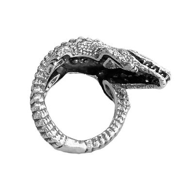 Crocodile Sterling Silver Ring