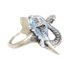 African Elephant Sterling Silver Ring